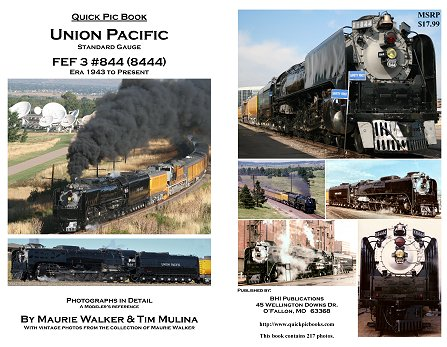 UP 844 / 8444 4-8-4 Steam Locomotive Quick Pic Book